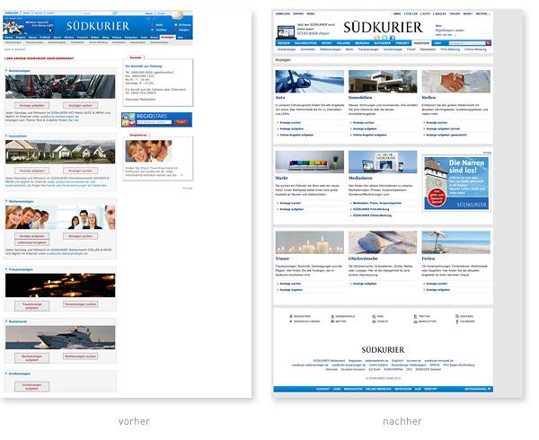 Relaunch Anzeigen Suedkurier.de