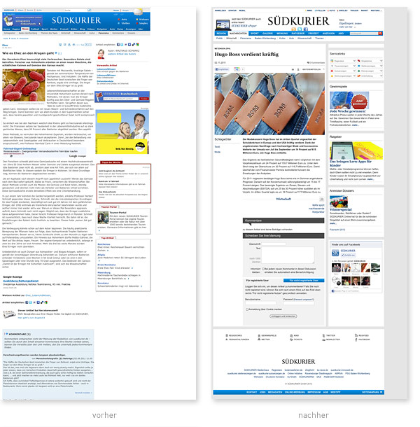 Relaunch Artikelansicht Suedkurier.de