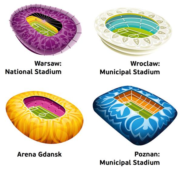 Stadien Host Cities UEFA EM 2012 Polen