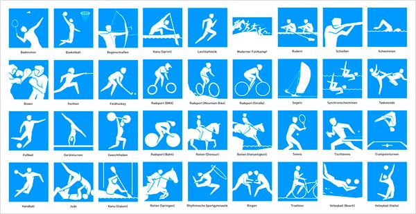 Piktogramme Olympia 2012