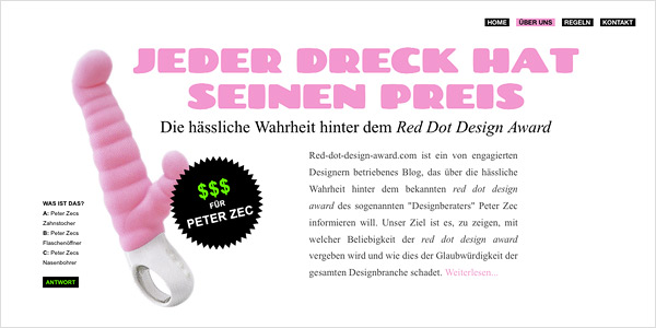 Kritik an Red Dot Design Award