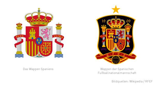 Wappen Spaniens und der Spanischen Fußballnationalmannschaft