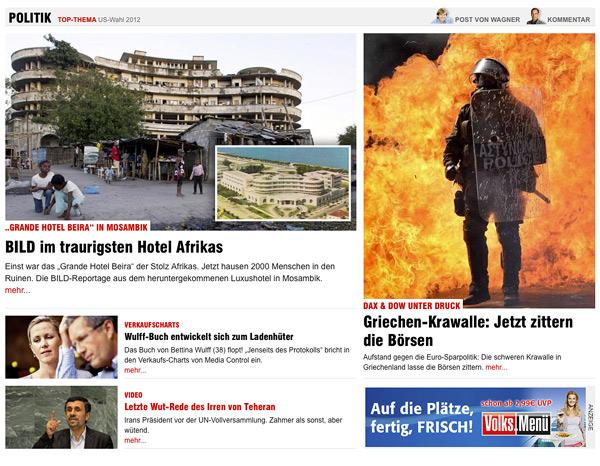 Bild.de Homepage