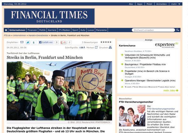 Financial Times Deutschland Relaunch