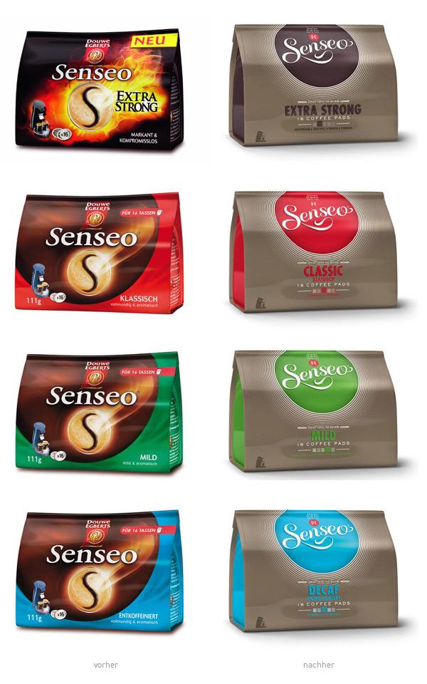 Senseo Verpackungsdesign Kaffeepads