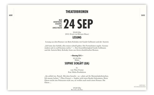 Theater Bremen Website