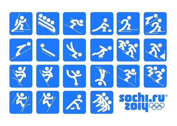 Piktogramme Olympia 2014 Sochi