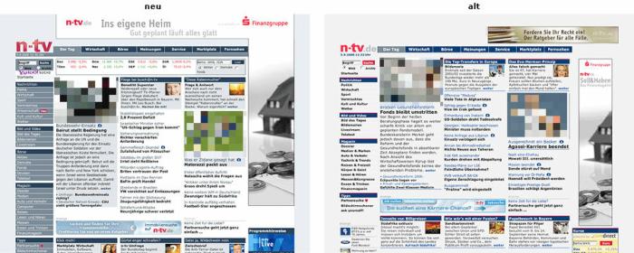 "N-TV.de mit ""Facelift"""