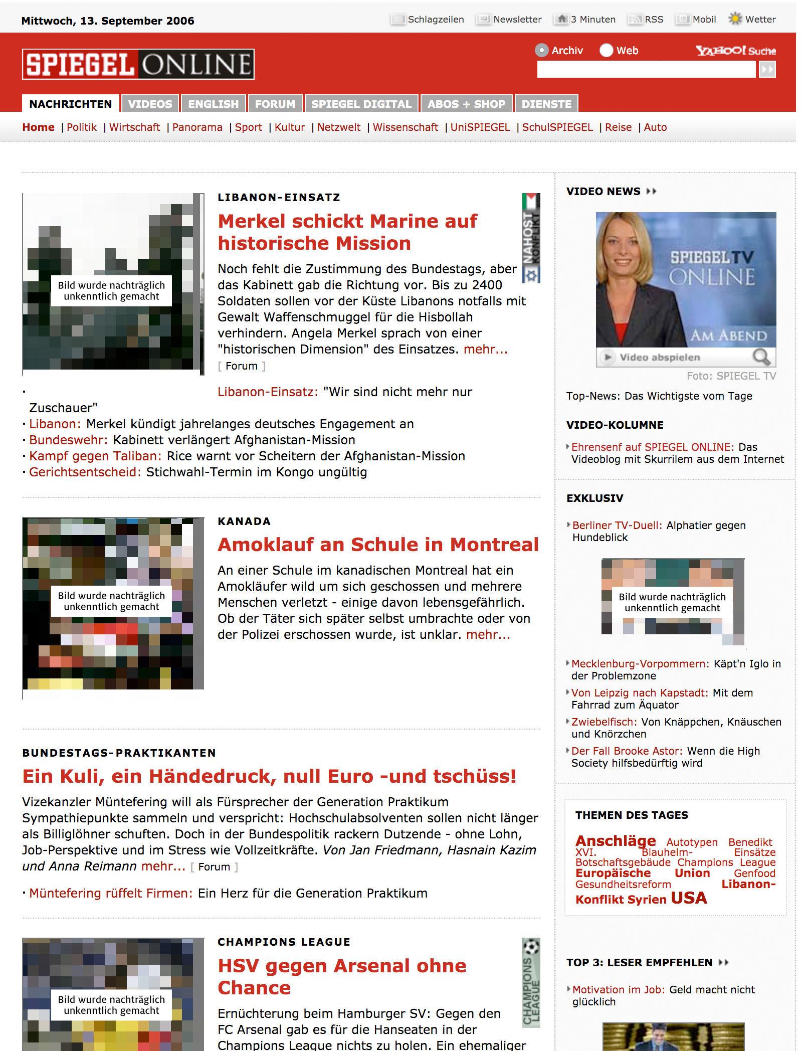 spiegel online 09/2006