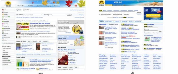 Relaunch von Web.de