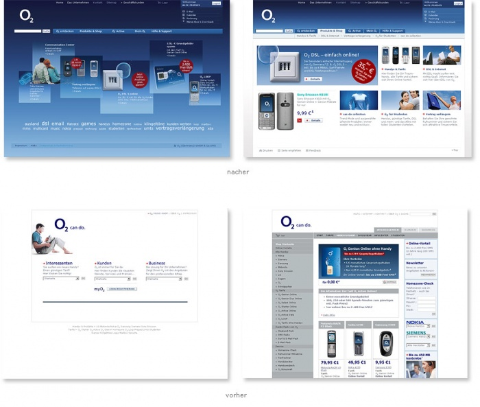 Neuer Internetauftritt O2-Online