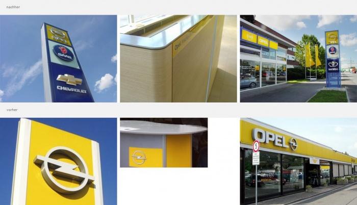 Opel-Händler erhalten neues Design