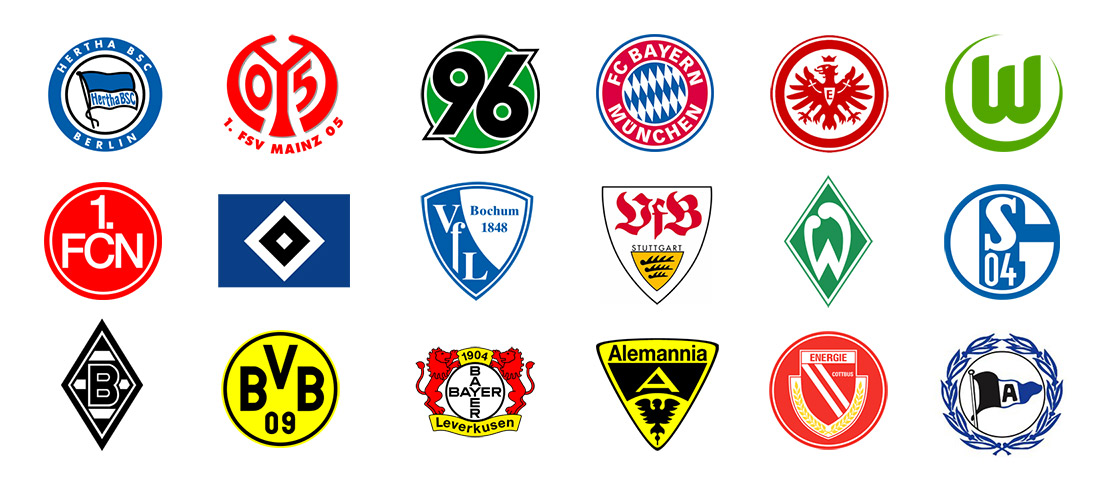 these tired bundesliga logos make me sad any ideas for improvement logodesign reddit