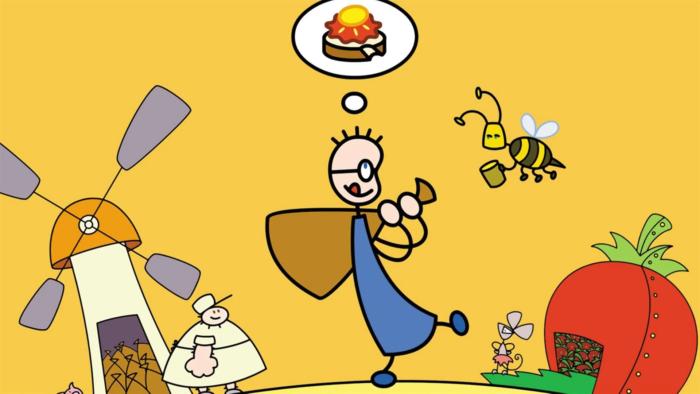 Erdbeermarmeladebrot mit Honig