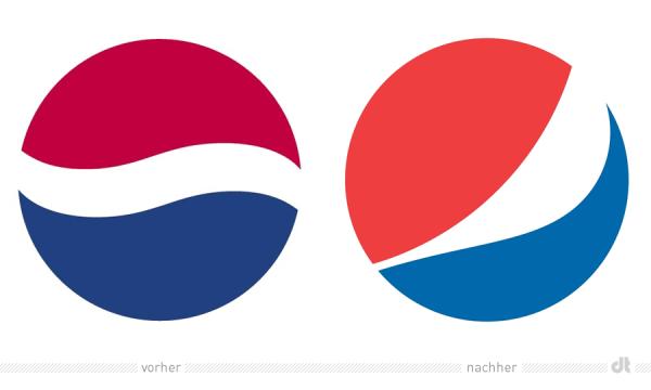 Pepsi Logo – alt und neu