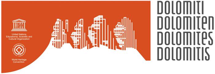 Dolomiten-UNESCO-Logo, finale Version (März, 2011)