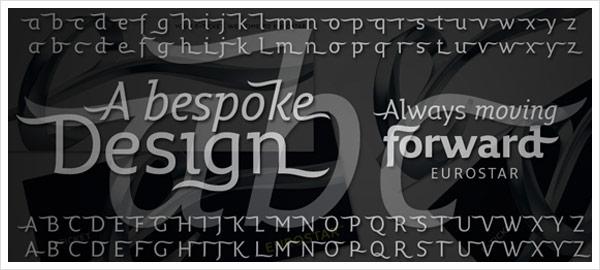 Eurostar Typographie