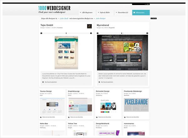 1000 Webdesigner