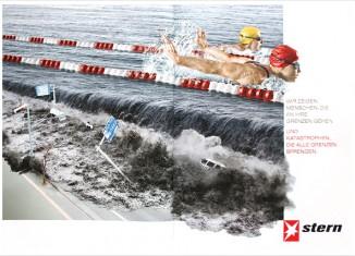 Stern Anzeige Tsunami