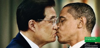 Benetton Unhate OBAMA HU JINTAO