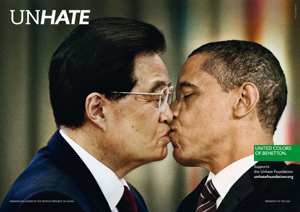 Benetton Unhate OBAMA HU JINTAO, Quelle: Benetton