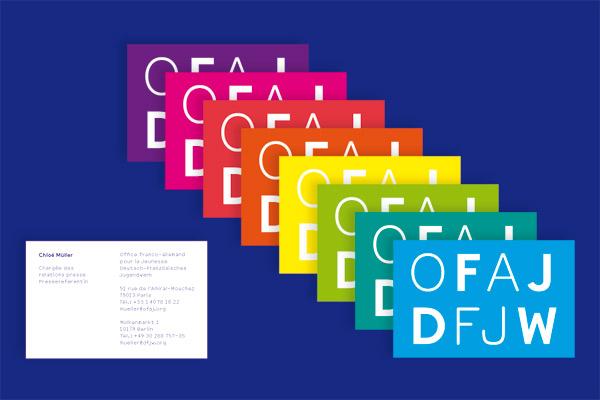 Deutsch-Französisches Jugendwerk DFJW Visitenkarte