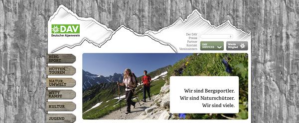 Relaunch DAV Deutschen Alpenverein