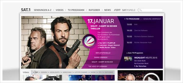Sat1.de Relaunch