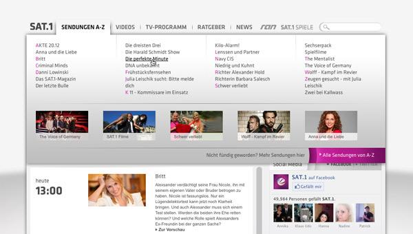 Sat1 Website