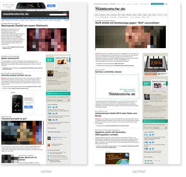 Relaunch Sueddeutsche.de