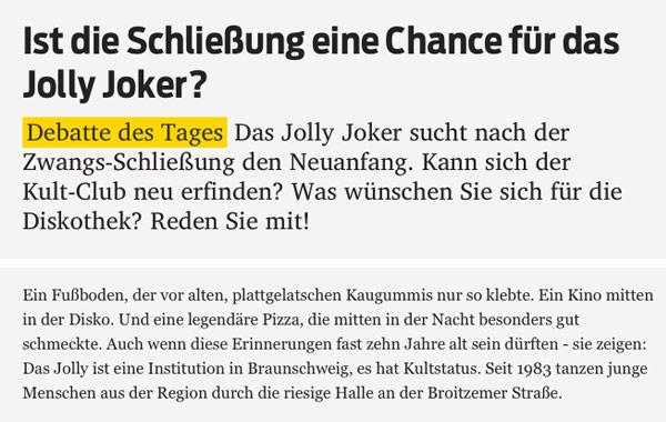"Braunschweiger Zeitung ""Antenna"""