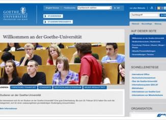 Relaunch Goethe Uni Frankfurt