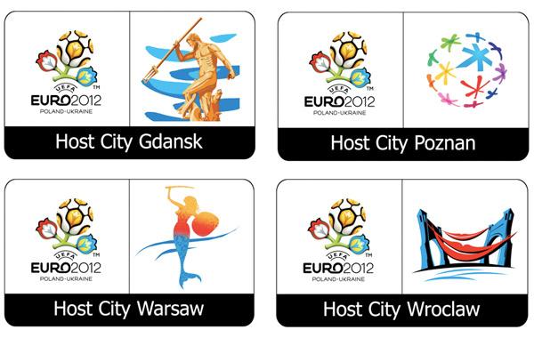 Host-City-Logos Fußball EM 2012 Polen