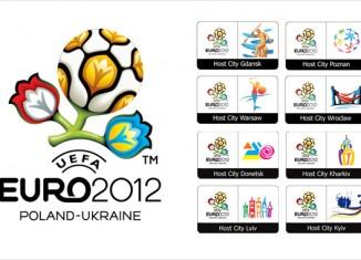 Host-City-Logos Fußball EURO EM 201