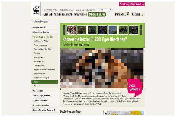 WWF.de Startseite