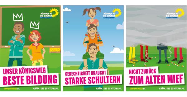 Wahlplakate Die Grünen Saarland