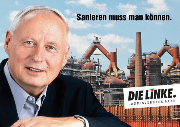 Wahlplakat DIE LINKE Saarland