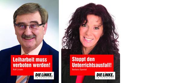 Wahlplakate DIE LINKE Saarland