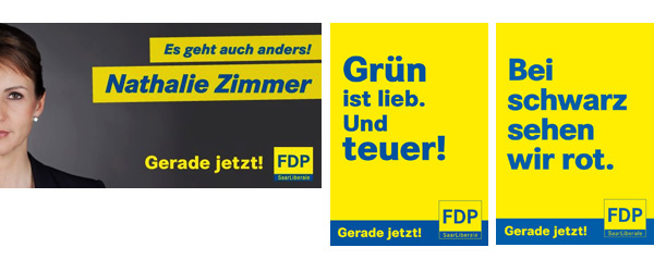 Wahlplakate FDP Saarland
