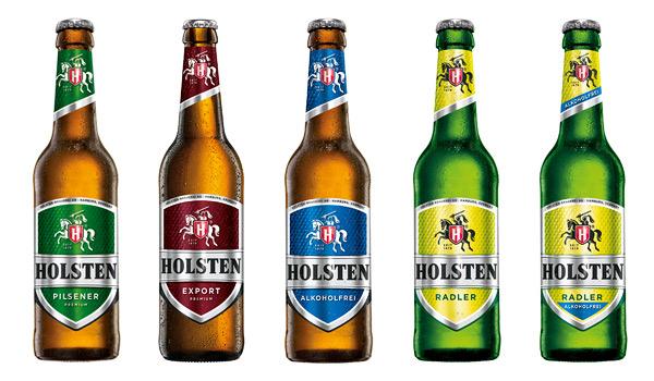 Holsten Pilsener Bierflaschen