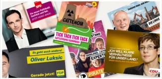 Wahlplakate Saarland 2012