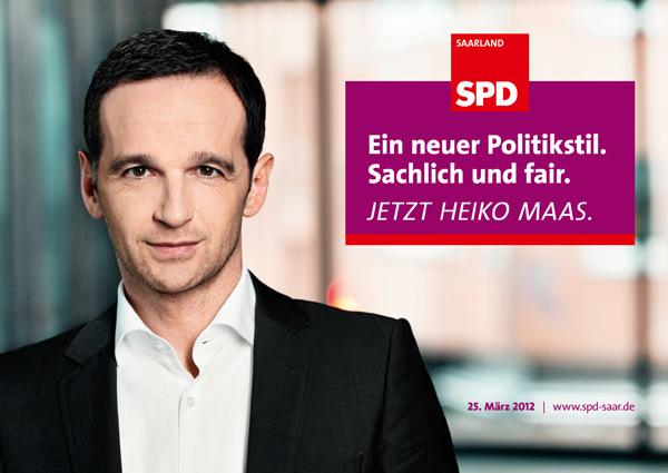 Wahlplakat Heiko Maas SPD Saarland