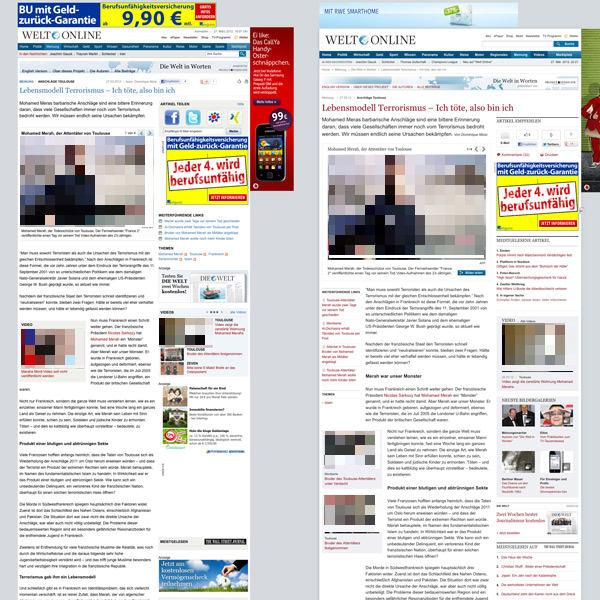 Welt.de Artikelebene