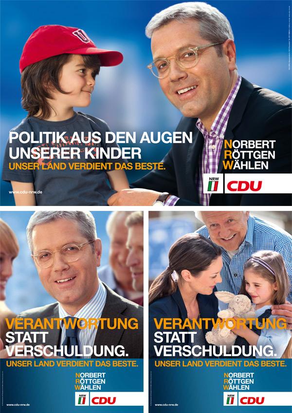 NRW CDU Wahlplakate 2012