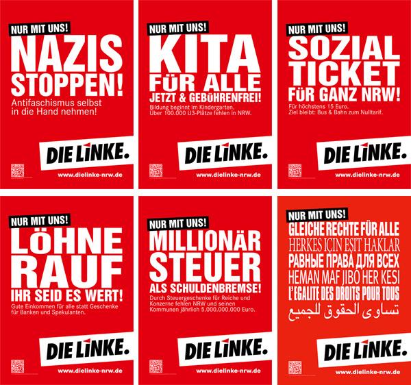 NRW Die Linke Wahlplakate 2012