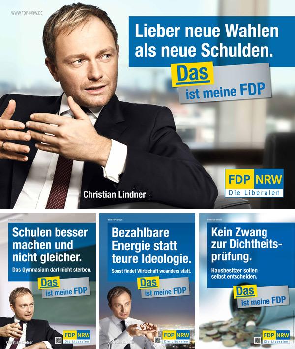 NRW FDP Wahlplakate 2012