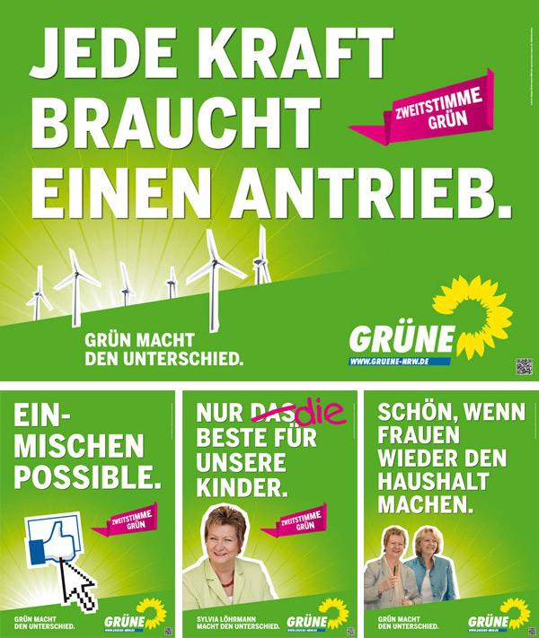 NRW Die Grünen Wahlplakate 2012