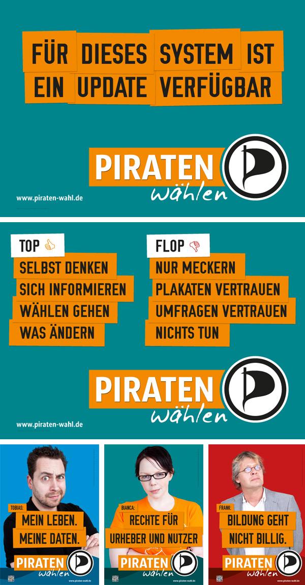 NRW Piratenpartei Wahlplakate 2012
