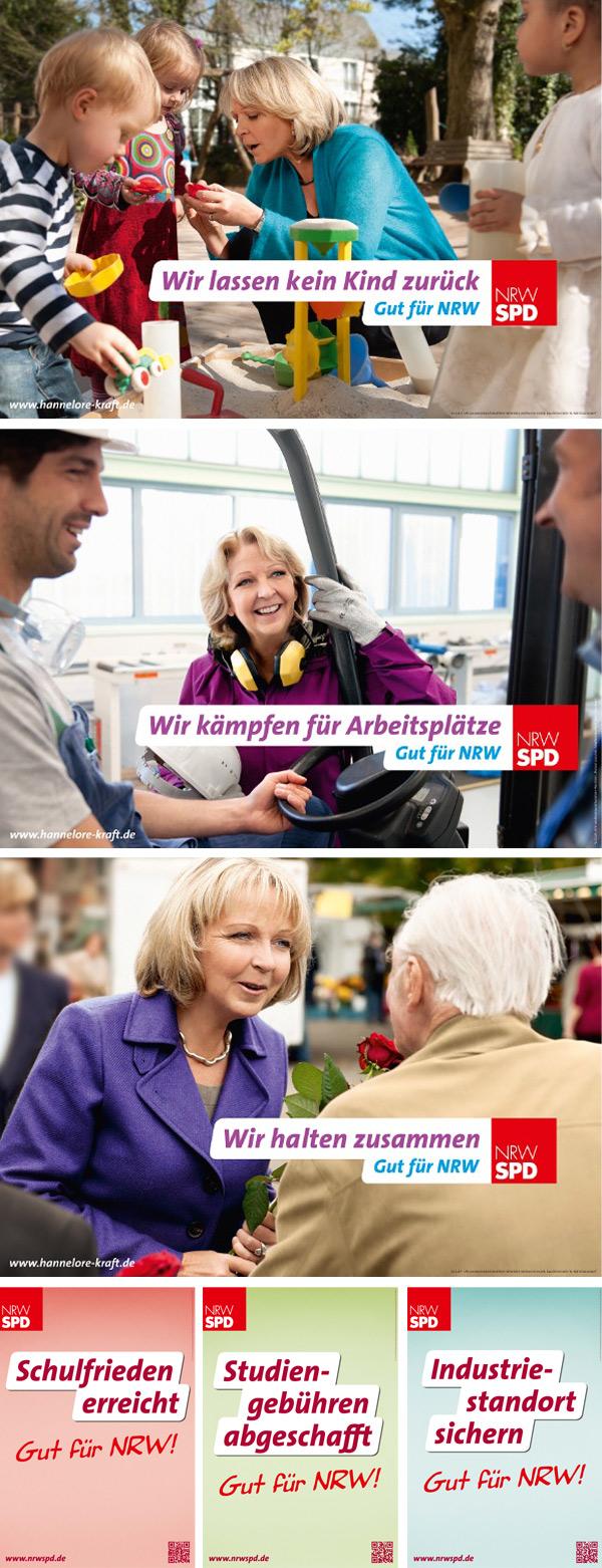 NRW SPD Wahlplakate 2012