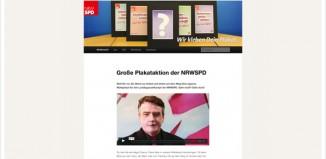 Plakataktion NRW SPD